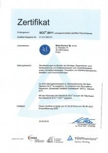 Certyfikat SCC_DE-1a
